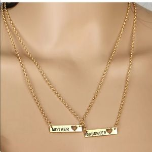 Jewelry - 🆕 2PC Gold Mother Daughter Friendship Necklace